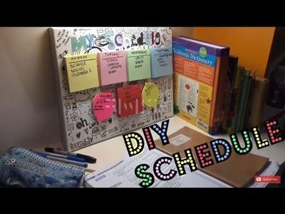 How to make schedule: DIY