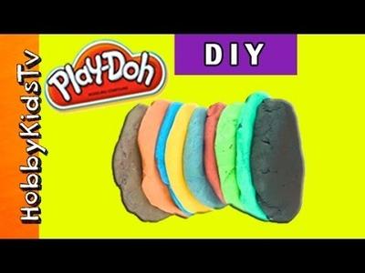Make Play-Doh NOW! Easy Color Mix + DIY Play Dough w. HobbySue HobbySpider HobbyKidsTV