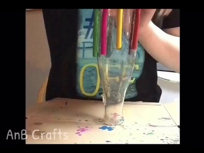 Melting Crayons On A Bottle DIY