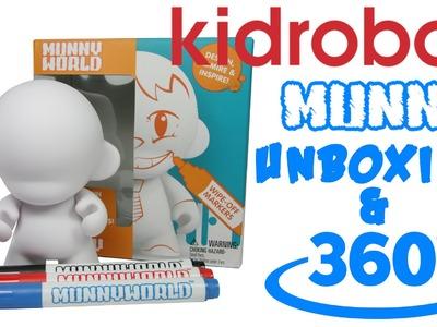 Mini MUNNY Kidrobot MUNNY WORLD DIY Vinyl Art Toy unboxing And 360 View