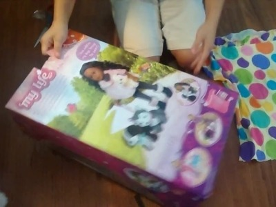 My DIY My Life Doll bed from the box she came in!