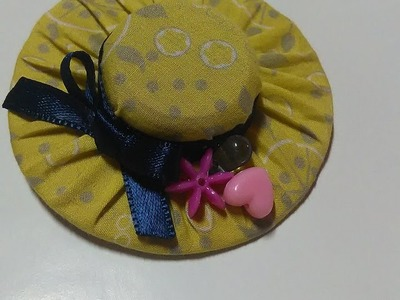 "Pince à cheveux ""petit chapeau"" (recyclage DIY facile et rapide).Hair clip (easy and fast recycling)"