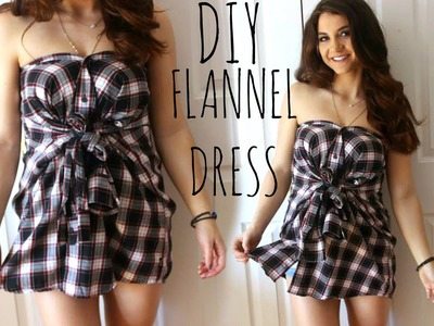 Transform a SHIRT into a DRESS in 1 MINUTE | DIY Clothes