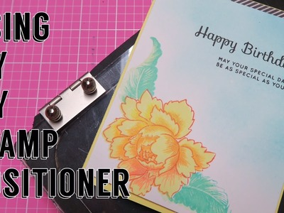 Using my DIY Stamp Positioner. Altenew Peony Bouquet | I'm A Cool Mom
