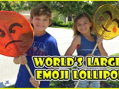 WE MAKE THE WORLD'S LARGEST EMOJI LOLLIPOPS - DIY | We Are The Davises
