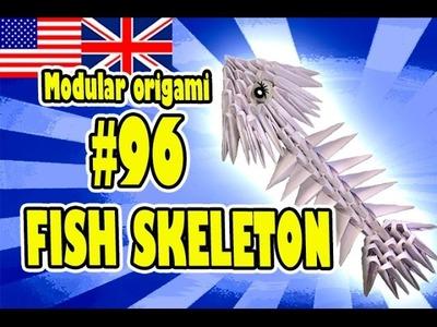 3D MODULAR ORIGAMI #96 FISH SKELETON