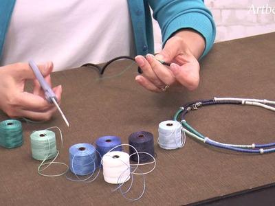 Artbeads Mini Tutorial - Thread Wrapped Cord with Cynthia Kimura