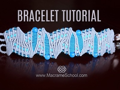 Artistic Macramé Bracelet Tutorial by Macrame School