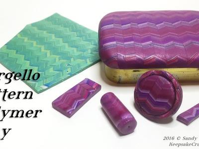 Bargello Pattern-Polymer Clay Tutorial