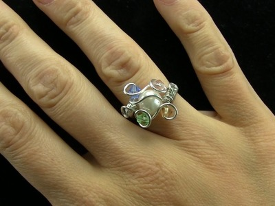Birthstone Mother's Ring Wire Wrap Tutorial