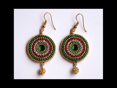 Chandbali ear rings tutorial