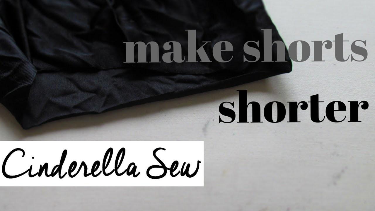Cut shorts shorter - How to shorten a pair of shorts - Cinderella Sew - Easy DIY fashion tutorials