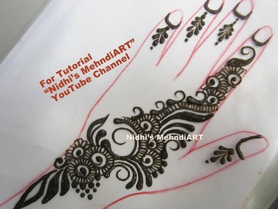 Cute Simplest Henna Mehndi Design Step by Step Tutorial for Beginners