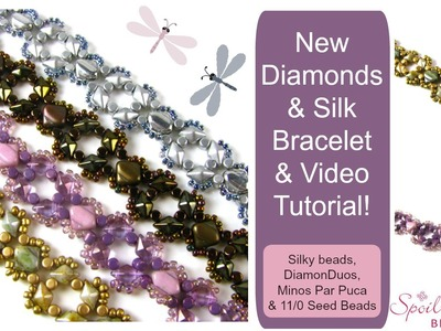 Diamonds and Silk Bracelet Tutorial