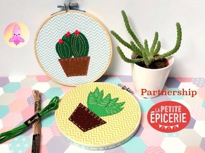 DIY Cactus Frame Home Deco - La Petite Epicerie partnership tutorial