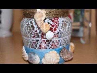 Diy : Decoration Jar Beach Shell ! Cum decoram un borcanel cu scoici ! decoracion bote