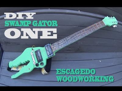 DIY.  Electric Alligator Guitar. Build.  for Hobos only