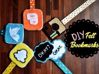 DIY: Felt and Popsicle Stick Bookmarks