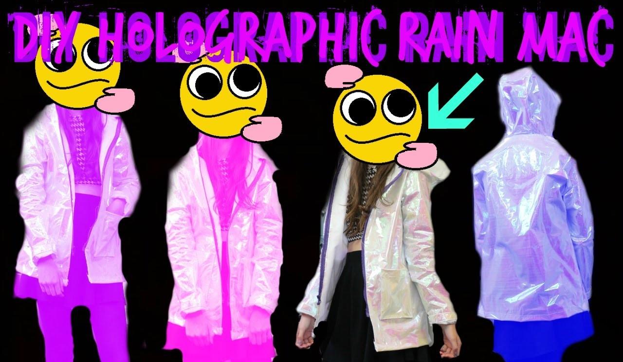 Diy holographic raincoat. mac | Fake it to make it #8