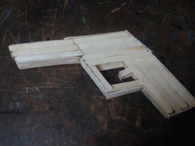 DIY: How to make toy gun. pistol using popsicle sticks, ice cream sticks - craft