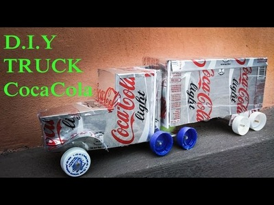DIY - How to Make Truck Using Coca Cans - Reuse Crafts