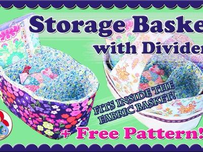 DIY | Storage Basket with Dividers + FREE PATTERN!!! • Sami Doll Tutorials