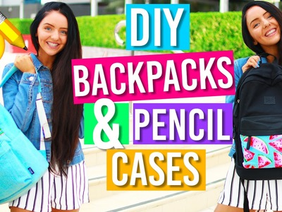Easy DIY Backpacks & Pencil Case For Back To School! DIY School Supplies for 2016!