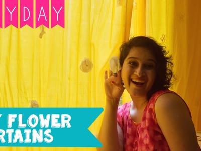 Easy DIY Flower Curtains I Room Decor Ideas | DIY Day Homes