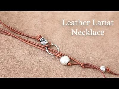 Easy DIY Lariat Necklace