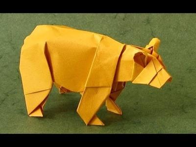Easy Origami for Beginner - Animal Bear Origami Tutorial