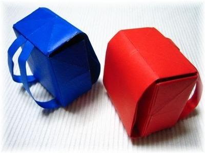 Easy Origami | Schoolbag Origami | Origami Tutorial