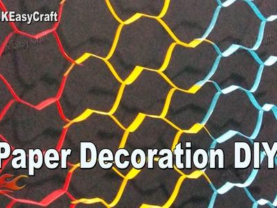 Easy Paper Decorations | #EcoFriendly #GanpatiDecoration  | How to make | JK Eeasy Craft 183