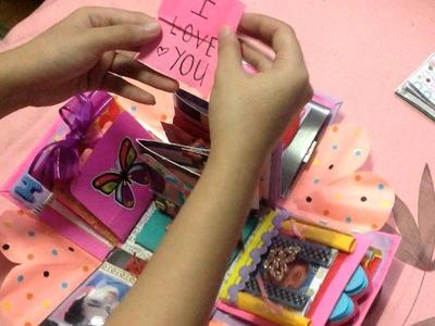 EXPLODING BOX (DIY- HANDMADE) SURPRISE FOR MY BOYFRIEND