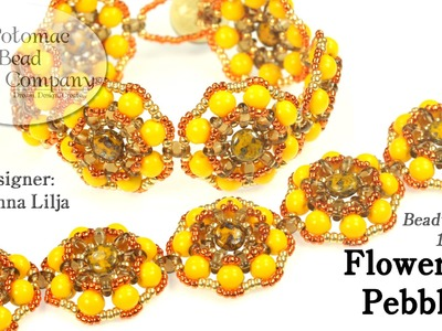 Flowers & Pebbles Bracelet (tutorial)