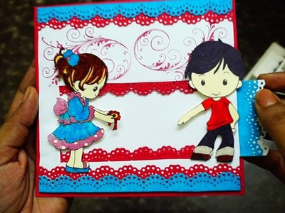 Handmade Rakhi Card. Rakshabandhan card | The Sucrafts