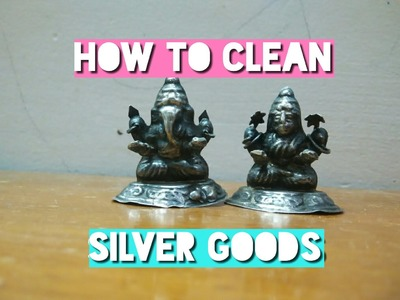 How to clean silver goods DIY with aluminium foil and baking soda.