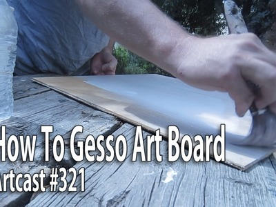 How To Gesso Art Board. Painting Tutorial