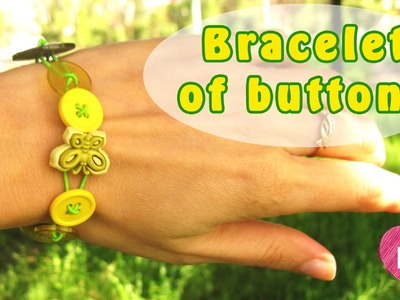 How to make a bracelet of buttons. Easy summer DIY.