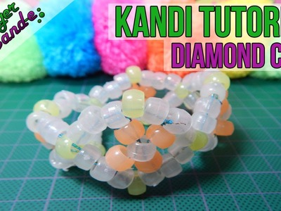 How to Make a Diamond Cuff (Style 2) - [Kandi Tutorial] | @GingerCandE