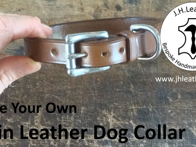 How to Make a Plain Leather Dog Collar