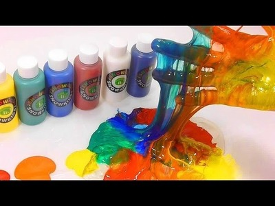 How To Make Coloring Paints Slime Learn the Recipe DIY | Kinder Surprise | ABC Song Finger Family