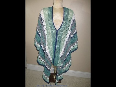 July 19th~Crochet update~Meet the 'Sea Goddess' aka Clement Canyon Poncho