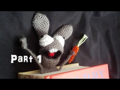 Learn How to Crochet Amigurumi Bunny Bookmark Part 1