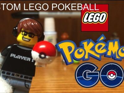 LEGO POKEBALL Tutorial + Review! How to make a Custom Lego Pokeball for Pokemon Go Stop Motions