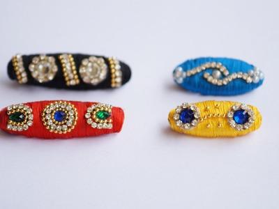 Making Silk Thread saree pins tutorial