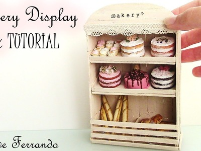 Miniature French Bakery Inspired Display Unit Tutorial