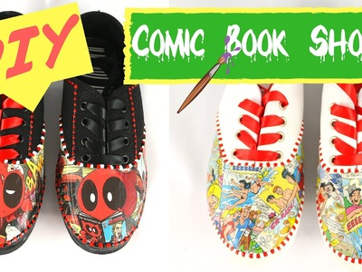 Mod Podge Shoes- Make your own Back to school DIY Comic Book Shoes!