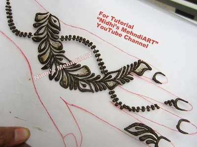 New Shaded Leaves Back Hand Strip Henna Mehndi Design Tutorial
