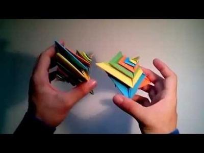 Origami 3D modular spiral | Origami 3D modular star tutorials