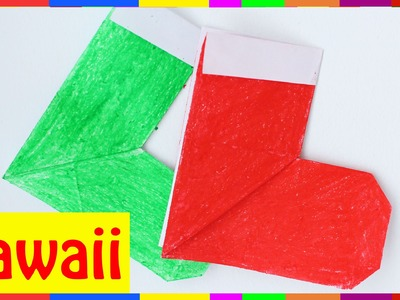 Origami Christmas Stockings - How To Fold Christmas Stockings ( Origami Hawaii )